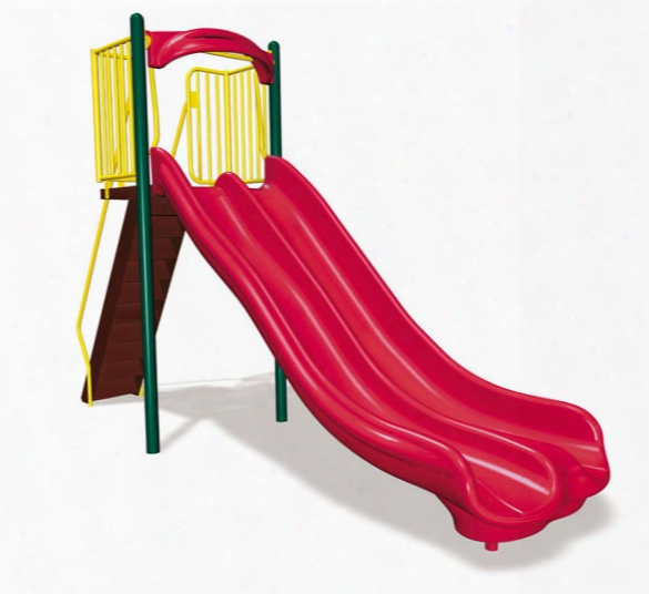 Freestanding Double Velocity Slide - 6 Foot Height
