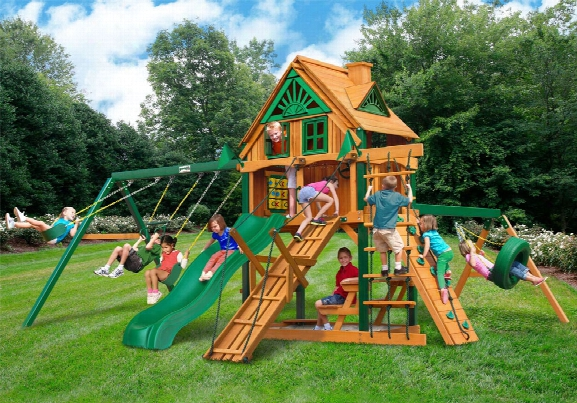 Frontier Treehouse With Fort Add On Ts Wooden Swing Set