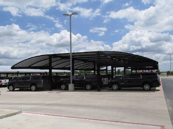 Full Arch Cantilevered Shade Structure 40 X 60 Waterproof