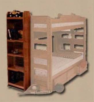 Full Length Bookcase For Riddle Bunk Bed
