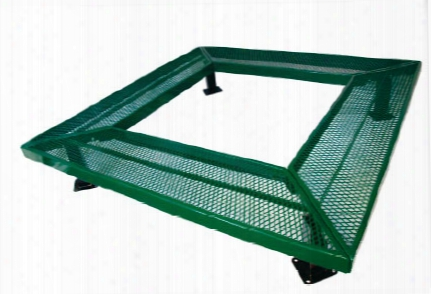 Geometric Mall Bench Without Back Surface Mount 6 Foot