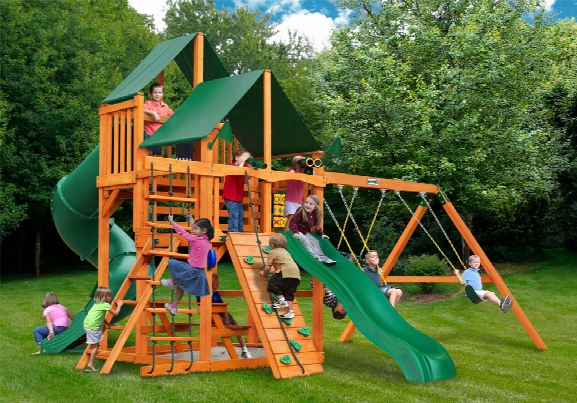 Great Skye I Supreme Ap Wooden Swing Set Green Sunbrella