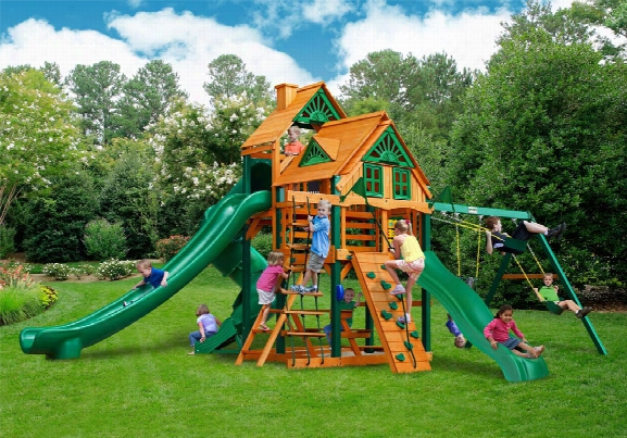 Great Skye Ii Treehouse Ts Wooden Swing Set
