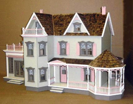 Harborside Mansion New Concept Milled Mdf Dollhouse Kit