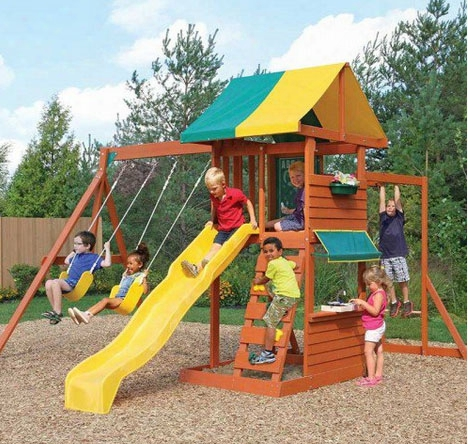 Hazelwood Wooden Swing Set