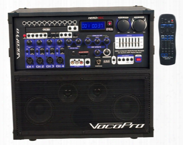 Hero Rec Portable Pa System With Digital Recorder