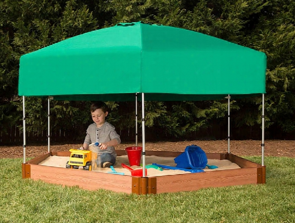 Hexagon Sandox 7 X 8 X 5.5 With Telescoping Canopy And Cover