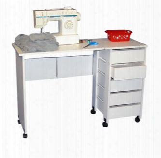 Hideaway Mobile Desk And Craft Table