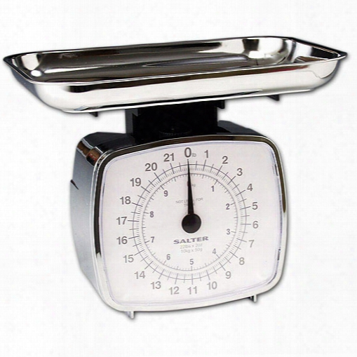 High Capacity 22 Pound Kitchen Scale With Chrome Tray