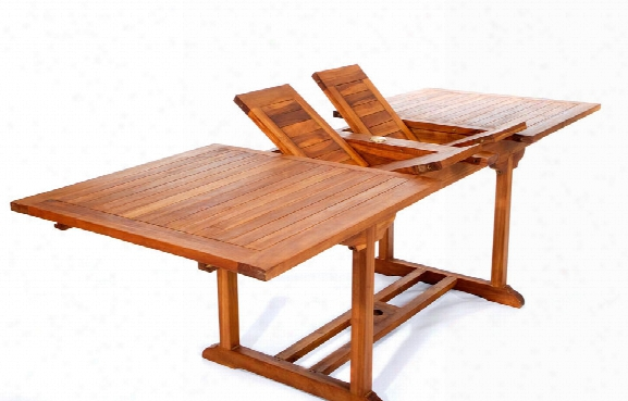 Indonesian Teak Extension Dining Table 95 Inch