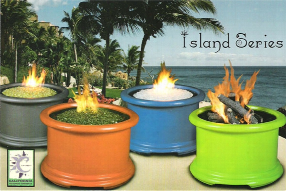 Island Series Firepit With Logset