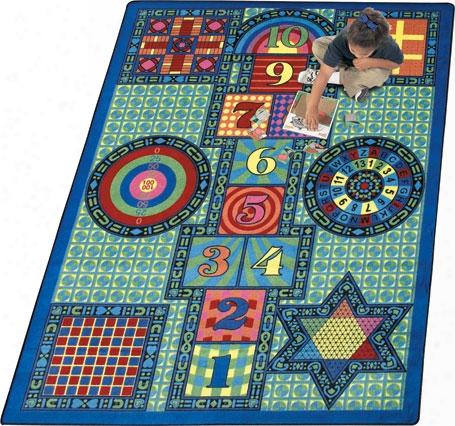 Joy Games Rug - 5.33 Foot X 7.67 Foot Rectangle