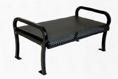 Lexington Perforated Bench Without Back 4 Foot