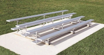 Low Rise Bleacher Aluminum 4 Row 15 Foot Long