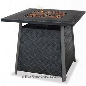 Lp Gas Outdoor Fire Pit Table With Steel Mantel