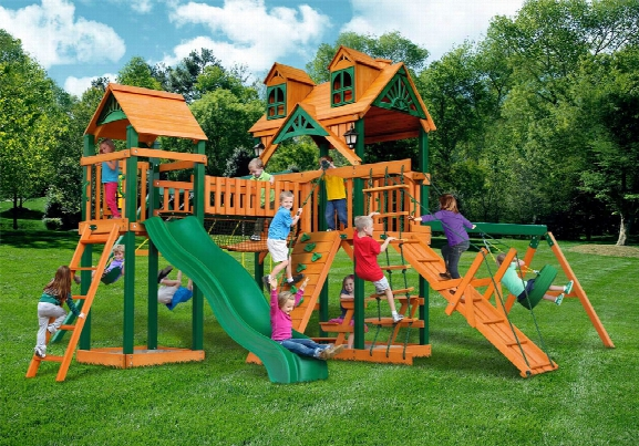 Malibu Gl Pioneer Peak Ts Wooden Swing Set