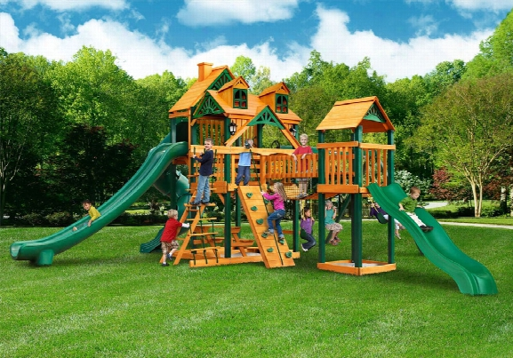 Malibu Gl Treasure Trove Ii Ts Wooden Swing Set