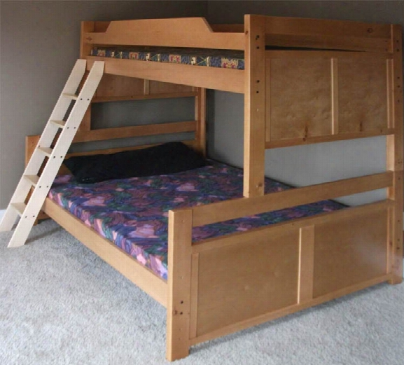 Medium Height Twin Over Full Panel Bunk Bed