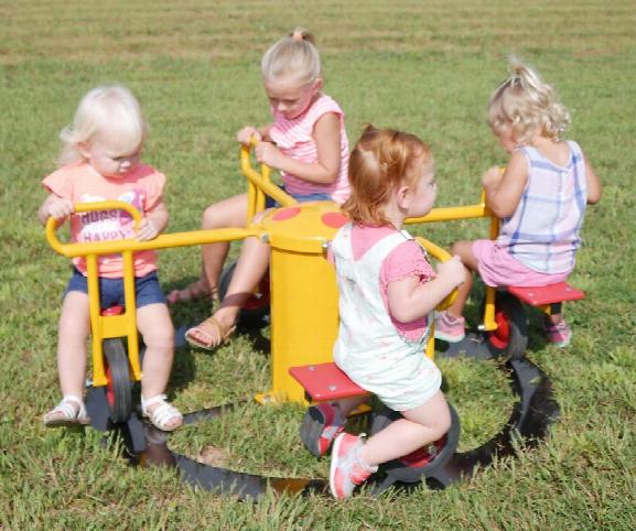 Mini Circle Cycle 4 Seat Inground Play Rider