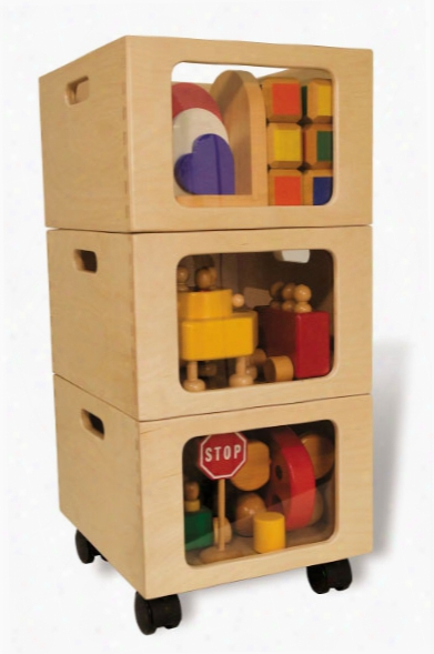 Mobile Toy Storage Tower