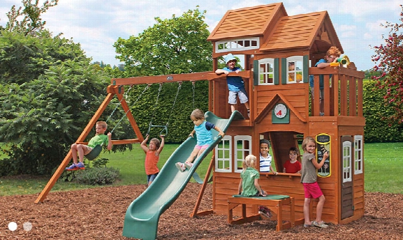 Mount Forest Lodge Wooden Swing Set