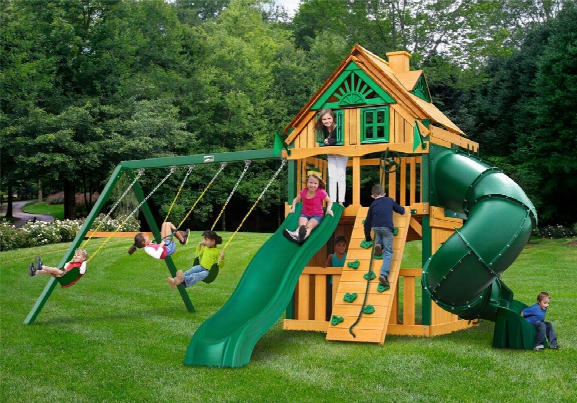 Mountaineer Clubhouse Treehouse Ts Wooden Swing Set
