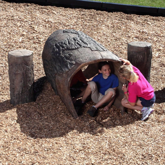 Nature Themed Log Tunnel 6 Foot