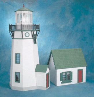 New England Lighthouse Historical Doll House Kit