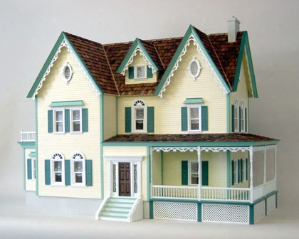 North Park Mansion Historical Doll House Kit -milled Plywood