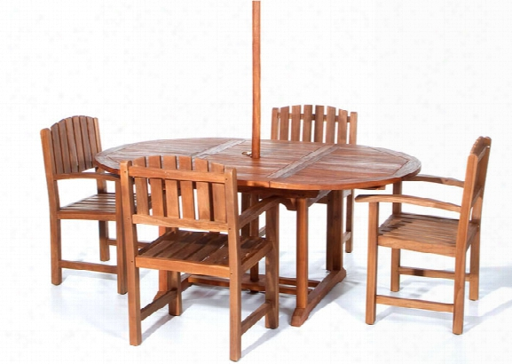 Oval Extension Table With 4 Td20 Chairs
