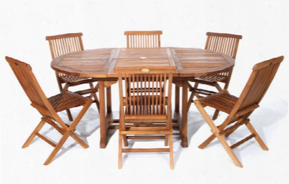 Oval Extension Table With 6 Tf22 Chairs