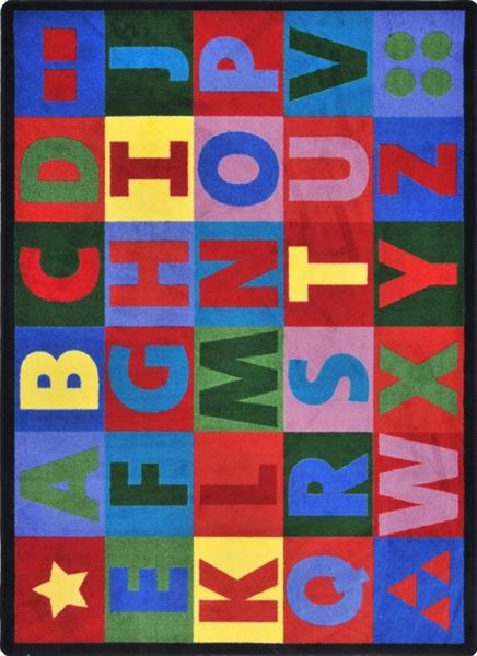 Oversize Alphabet Rug - 10.75 Foot X 13.15 Foot Rectangle