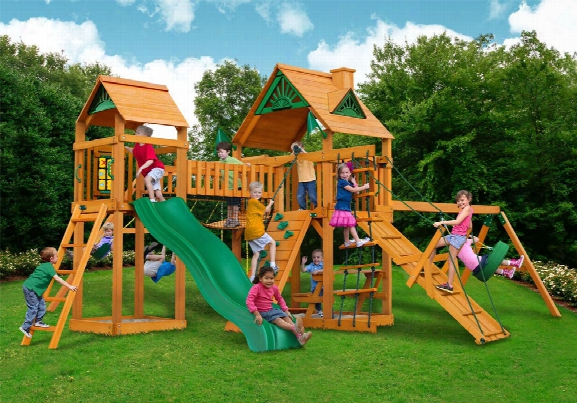 Pioneer Peak Ap Wooden Swing Set