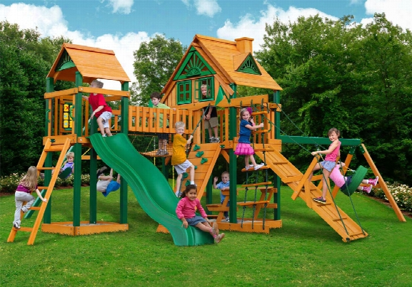 Pioneer Peak Treehouse Ts Wooden Swing Set