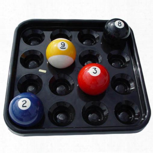 Plastic Pool Ball Tray Black - Set Of 6