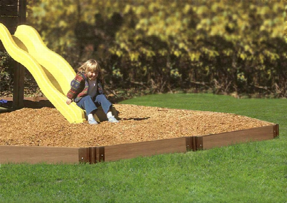 Playground Border Kit -16 Straight Linear Feet One Inch Deep