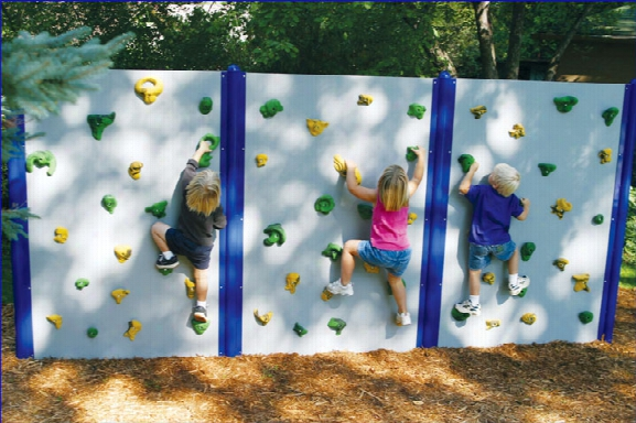 Playground Wall 12 Ft Wide System For Outdoor Use