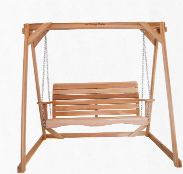 Porch Swing With Cedar A-frame