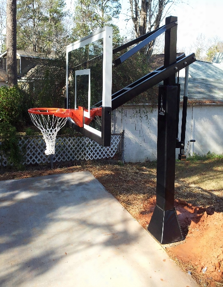 Raider 72 Inch Adjustable Glass Basketball System