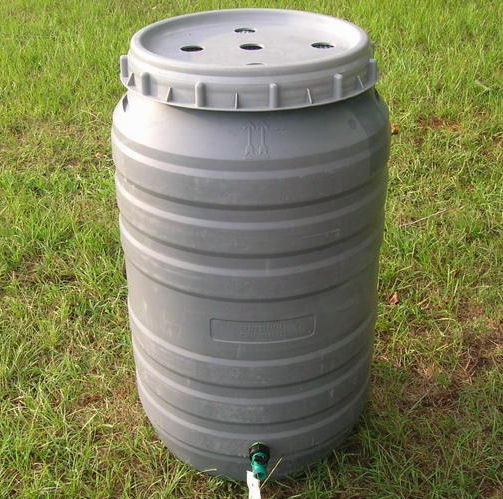 Rain Barrel With Overflow Hose