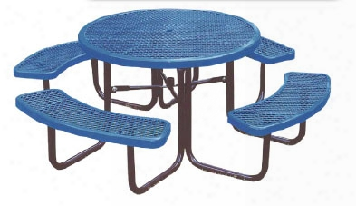 Round Portable Diamond Picnic Table 46 Inch