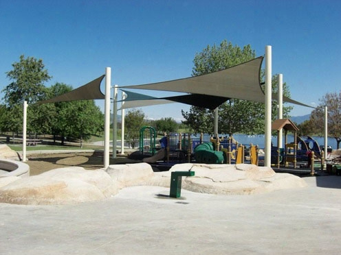 Sail Shade Structure 3 Point 20 Foot X 20 Foot X 20 Foot