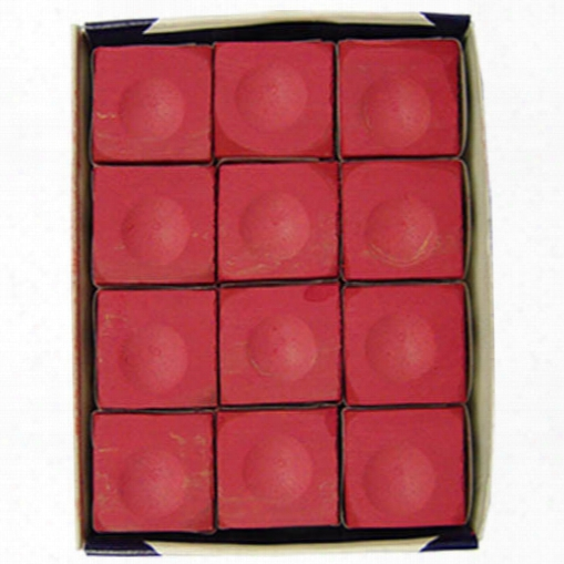 Silver Cup Chalk 144 Piece - Red