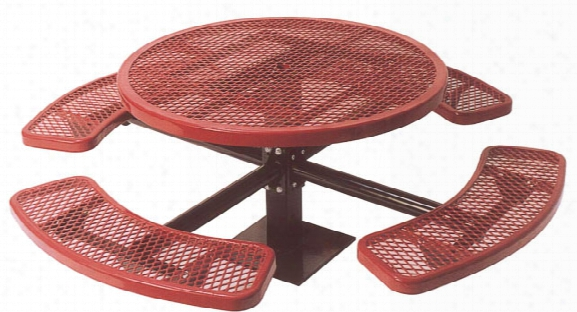 Single Pedestal Ada 3 Seat Surface Picnic Table 46 Inch