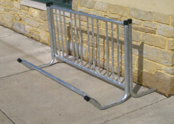 Single Sided Bicycle Rack - Holds 4 Bicycles