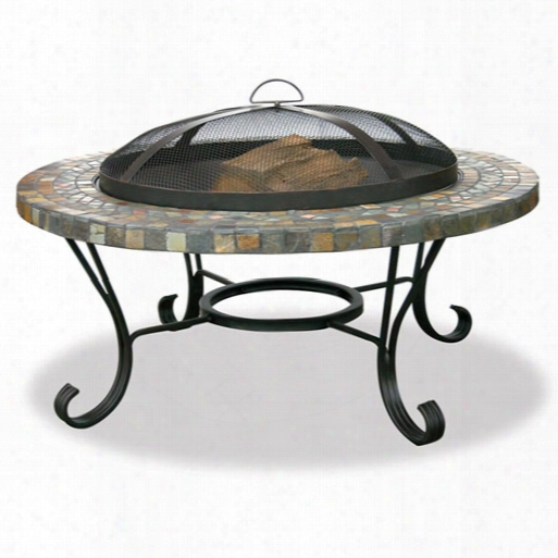 Slate Tile Copper Outdoor Firebowl
