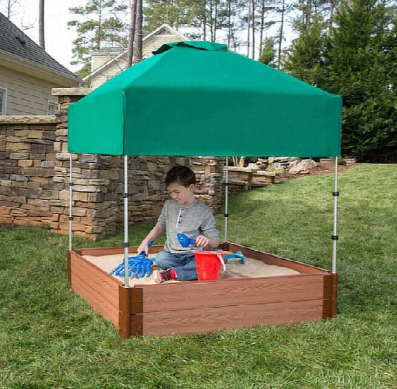 Square Sandox 4 X 4 X 11 With Telescoping Canopy And Cover
