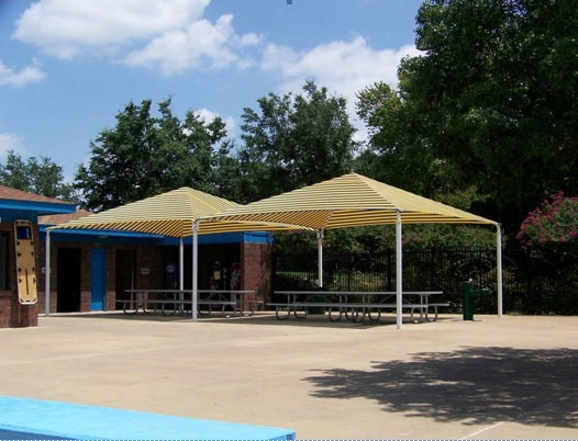 Stand Alone Shade Structure 10 X 130 Foot Joined Hip