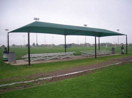 Stand Alone Shade Structure 60 Foot X 15 Foot