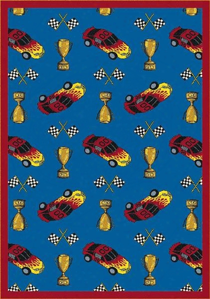 Start Your Engines Rug - 3.8 X 5.33 Foot Rectangle